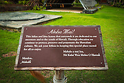 Hawaiian heritage interpretive display at the Four Seasons Hualalai, Kona Coast, Hawaii USA