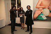 Amit Kilam, Priyanka Mathew and Vurcem Patel. Other,Riyas Komu and Peter Drake. - VIP  launch of Aicon. London's largest contemporary Indian art gallery. Heddon st. and afterwards ant Momo.15 Marc h 2007.  -DO NOT ARCHIVE-© Copyright Photograph by Dafydd Jones. 248 Clapham Rd. London SW9 0PZ. Tel 0207 820 0771. www.dafjones.com.