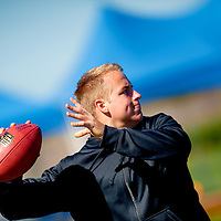 2/18/13 11:15:15 AM -- Bradenton, FL, U.S.A. -- NFL prospect and former USC quarterback Matt Barkley works out at IMG Academy in Bradenton, Fla., in preparation for this year's NFL Combine.  -- ...Photo by Chip J Litherland, Freelance