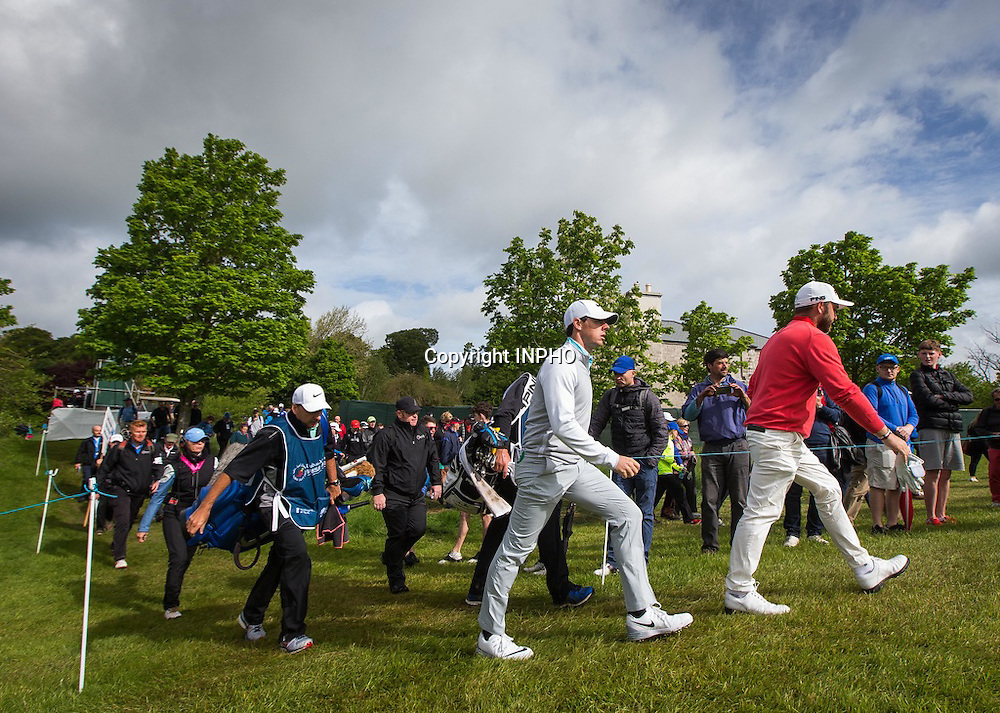2016 Dubai Duty Free Irish Open Day 2, The K Club, Co. Kildare 20/5/2016<br /> Rory McIlroy makes his way to the 15th <br /> Mandatory Credit &copy;INPHO/Ryan Byrne