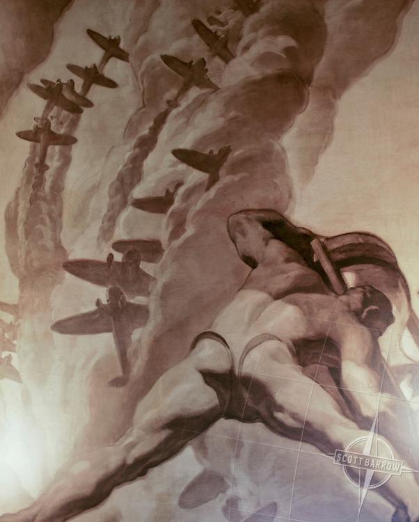 Murals on walls and ceiling of 30 Rockerfeller Center