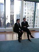 Bernard Arnault and Christian de Portzamparc. LVMH Tower opening. E. 57 St. New York. © Copyright Photograph by Dafydd Jones 66 Stockwell Park Rd. London SW9 0DA Tel 020 7733 0108 www.dafjones.com