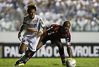 20120202: SAO PAULO, BRAZIL - Player Neymar of Santos and Cris of Oeste Team during match for Campeonato Paulista held at Arena Barueri, SP, Brasil <br /> PHOTO: CITYFILES