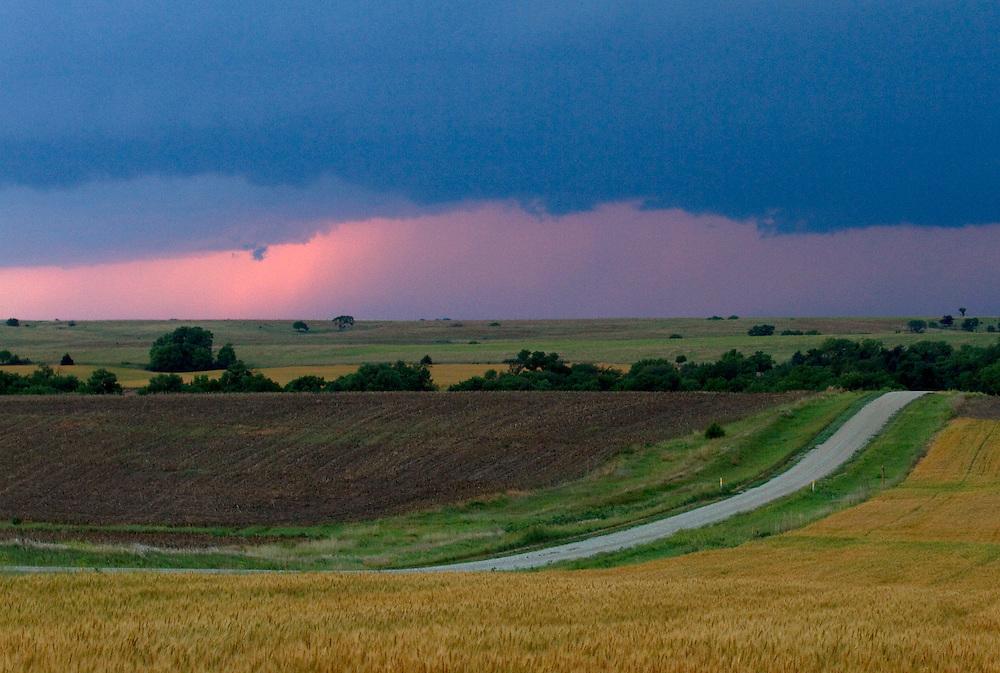 Evening storm over Kansas