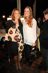 Left to right, ALICE KING and TESSA PILKINGTON at the Launch of Peroni Nastro Azzurro Accademia del Film Wrap Party Tour held atThe Boiler House, 152 Brick Lane, London E1 on 25th August 2010.