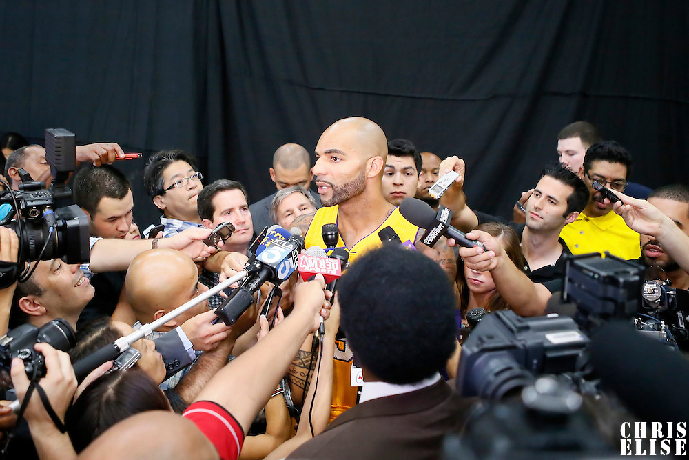 29 September 2014: Carlos Boozer is seen during the Los Angeles Lakers Media Day, at Toyota Sports Center, El Segundo, California, USA.