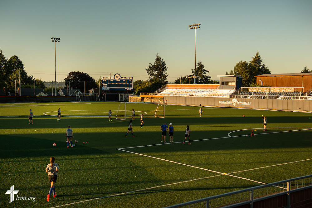 Athletes practice on the fields of Concordia University on Thursday, July 10, 2014, in Portland, Ore. LCMS Communications/Erik M. Lunsford
