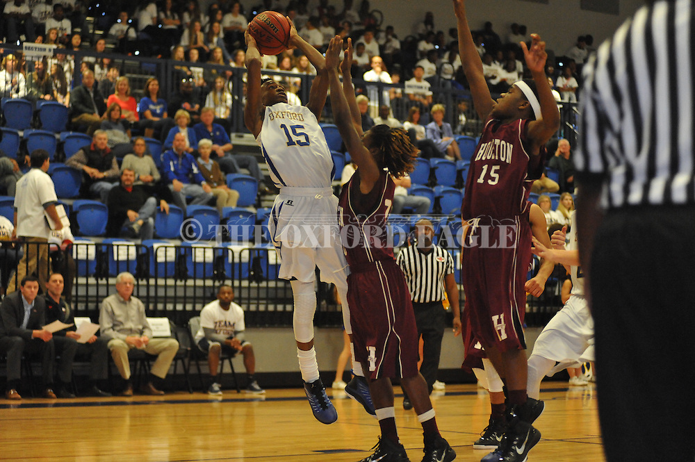 Oxford High's Cortez Jones (15) vs. Houston in Oxford, Miss. on Thursday, November 20, 2014.