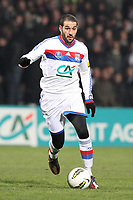 FOOTBALL - FRENCH CUP 2011/2012 - 1/8 FINAL - OLYMPIQUE LYONNAIS v GIRONDINS DE BORDEAUX - 08/02/2012 - PHOTO EDDY LEMAISTRE / DPPI - LISANDRO LOPEZ (OL)