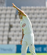 Sam Curran of Surrey during the Specsavers County Champ Div 1 match between Hampshire County Cricket Club and Surrey County Cricket Club at the Ageas Bowl, Southampton, United Kingdom on 11 June 2018. Picture by Graham Hunt.