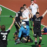 MELBOURNE - Champions Trophy men 2012<br /> Belgium v England<br /> foto: 2-0 celebraring Belgium<br /> FFU PRESS AGENCY COPYRIGHT FRANK UIJLENBROEK