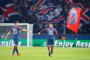 Layvin Kurzawa (psg) scored the third goal, celebration with Julian Draxler (PSG) during the UEFA Champions League, Group B, football match between Paris Saint-Germain and RSC Anderlecht on October 31, 2017 at Parc des Princes stadium in Paris, France - Photo Stephane Allaman / ProSportsImages / DPPI