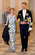 15-4-2015 - COPENHAGEN - Queen Letizia and king felipe  And King Willem Alexander  at the diner in Christiansborg Palace , attent the 75 th Birthday celebration of of Queen Margrethe II . COPYRIGHT ROBIN UTRECHT