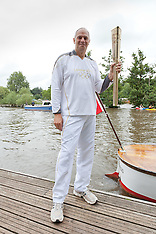 Steve Redgrave with Olympic Torch 10-7-12