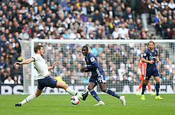 Abdoulaye Doucoure of Watford passes a ball past the outstrecthed leg of Jan Vertonghen of Tottenham Hotspur - Mandatory by-line: Arron Gent/JMP - 19/10/2019 - FOOTBALL - Tottenham Hotspur Stadium - London, England - Tottenham Hotspur v Watford - Premier League