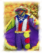 Hatillo carnival costume painting