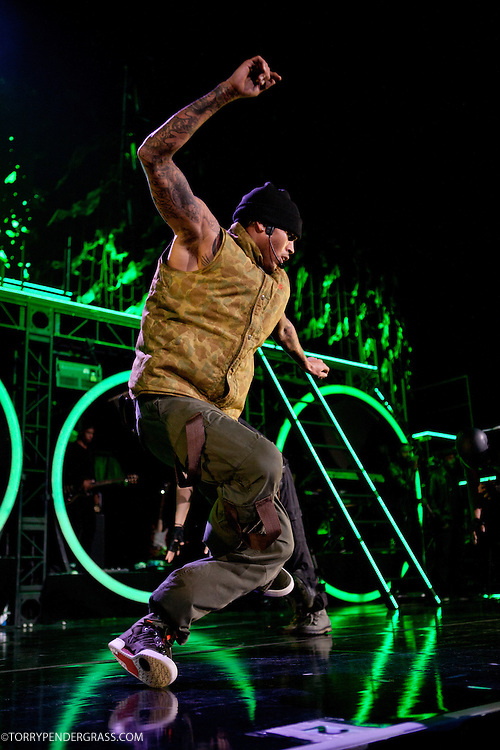 Chris Brown performs on Oct. 2011 during his F.A.M.E. tour at Staples Center in Los Angeles, CA.
