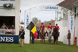 Team Belgium :<br /> Chef d'equipe Philippe Guerdat, Gregory Wathelet, Dirk Demeersman, Niels Bruynseels<br /> Derby de La Baule 2012<br /> © Dirk Caremans