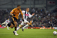 Photo: Rich Eaton.<br /> <br /> West Bromwich Albion v Wolverhampton Wanderers. Coca Cola Championship. Play off Semi Final 2nd Leg. 16/05/2007. Wolves Jay Bothroyd tries to outpace Chris Perry