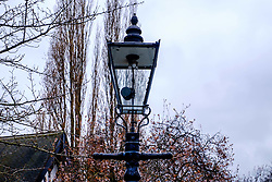 A cast iron street light with a gas lantern in Nottingham's Park Estate. This is the largest surviving gas lit area in Europe with 220 lanterns<br /> <br /> (c) Andrew Wilson | Edinburgh Elite media