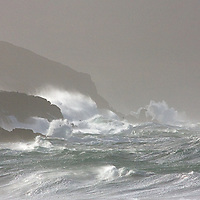 Stormy irish weather at southwest coastline of County Kerry, Ireland / sm013