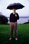 Bill Gates, founder of Microsoft, photographed at his home on Lake Washington, in Bellevue Washington