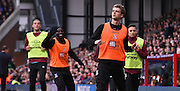 Patrick Bamford looks on from the sidelines amongst rumours of a return to Chelsea during the Barclays Premier League match between Crystal Palace and West Ham United at Selhurst Park, London, England on 17 October 2015. Photo by Michael Hulf.
