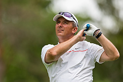May 29, 2019 - Dublin, OH, U.S. - DUBLIN, OH - MAY 29: Former Ohio State Buckeyes head coach Urban Meyer plays his shot from the eighth tee during the Pro-Am of the Memorial Tournament presented by Nationwide at Muirfield Village Golf Club on May 30, 2018 in Dublin, Ohio. (Photo by Adam Lacy/Icon Sportswire) (Credit Image: © Adam Lacy/Icon SMI via ZUMA Press)