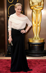 Meryl Streep arriving to the 2014 Oscars at the Hollywood and Highland Center in Hollywood, California, USA,  Sunday, 2nd March 2014. Picture by Hollywood Bubbles / i-Images<br /> UK ONLY