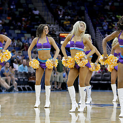 Oct 10, 2009; New Orleans, LA, USA;  New Orleans Hornets Honeybees cheerleaders perform during a break in the action during a preseason game against the Oklahoma City Thunder at the New Orleans Arena. The Hornets defeated the Thunder 88-79. Mandatory Credit: Derick E. Hingle-US PRESSWIRE