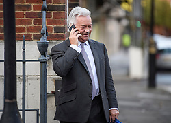 © Licensed to London News Pictures. 19/10/2019. London, UK. ALAN DUNCAN MP is seen in Westminster, London on the day that Parliament will vote on a new agreement between UK government and the EU over Brexit. Parliament is sitting on a Saturday for the first time since 1982. Photo credit: Ben Cawthra/LNP