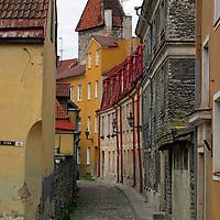 Europe, Estonia, Tallinn. An old street of Toompea, the historic center of Tallinn.