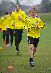 LIVERPOOL, ENGLAND, Wednesday, March 16, 2011: Liverpool's Dirk Kuyt during a training session at the club's Melwood Training Ground ahead of the UEFA Europa League Round of 16 2nd leg match against Sporting Clube de Braga. (Photo by David Rawcliffe/Propaganda)