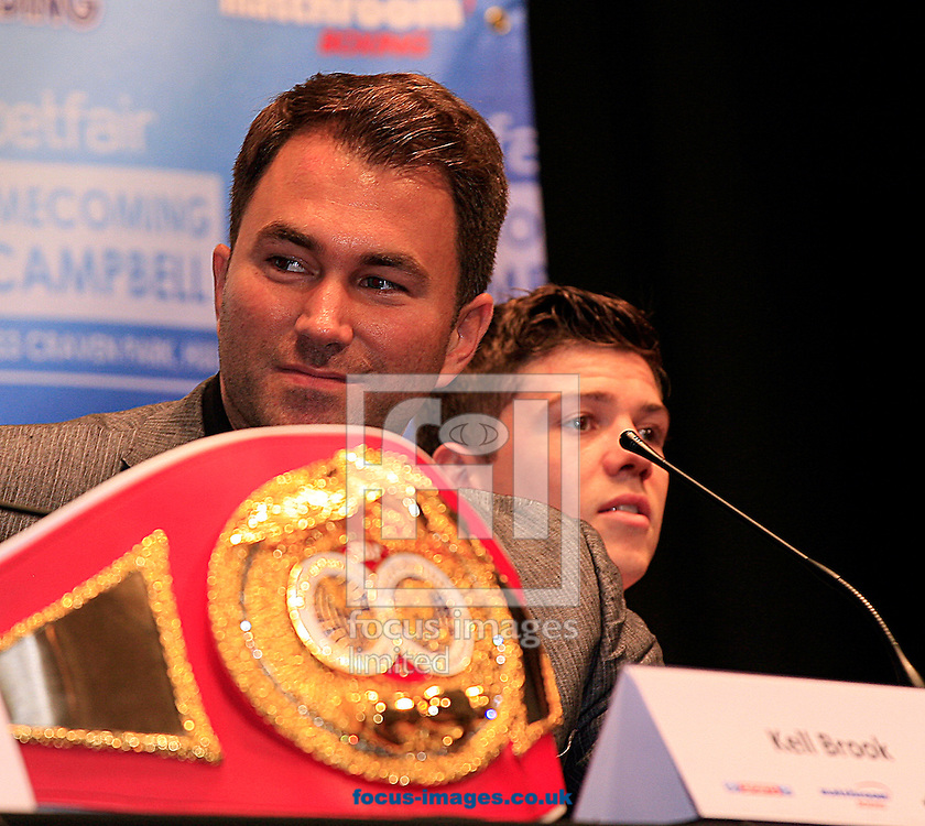 Picture by Richard Gould/Focus Images Ltd +44 7855 403186<br /> 22/06/2013<br /> Eddie Hearn pictured during a press conference at Hull City Hall.
