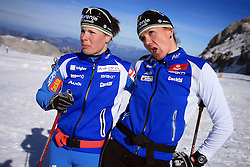Vesna Fabjan and Petra Majdic at practice of Slovenian Cross country National team before new season 2008/2009, on October 22, 2008, glacier Dachstein, Ramsau, Austria. (Photo by Vid Ponikvar / Sportida).