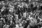 Dancing crowd, Reclaim the Streets London, Shepherd's Bush, July 1996
