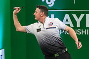 Justin Pipe during the PDC Darts Players Championship at  at Butlins Minehead, Minehead, United Kingdom on 26 November 2017. Photo by Shane Healey.