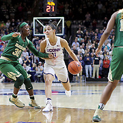 STORRS, CONNECTICUT- NOVEMBER 17: Kia Nurse #11 of the UConn Huskies is defended by Alexis Jones #30 of the Baylor Bears during the UConn Huskies Vs Baylor Bears NCAA Women's Basketball game at Gampel Pavilion, on November 17th, 2016 in Storrs, Connecticut. (Photo by Tim Clayton/Corbis via Getty Images)
