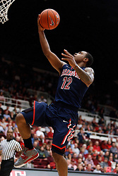 February 3, 2011; Stanford, CA, USA;  Arizona Wildcats guard Lamont Jones (12) shoots against the Stanford Cardinal during the second half at Maples Pavilion.  Arizona defeated Stanford 78-69.