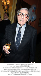 Actor ERIC SYKES at a lunch in London on 2nd March 2004.PSC 121
