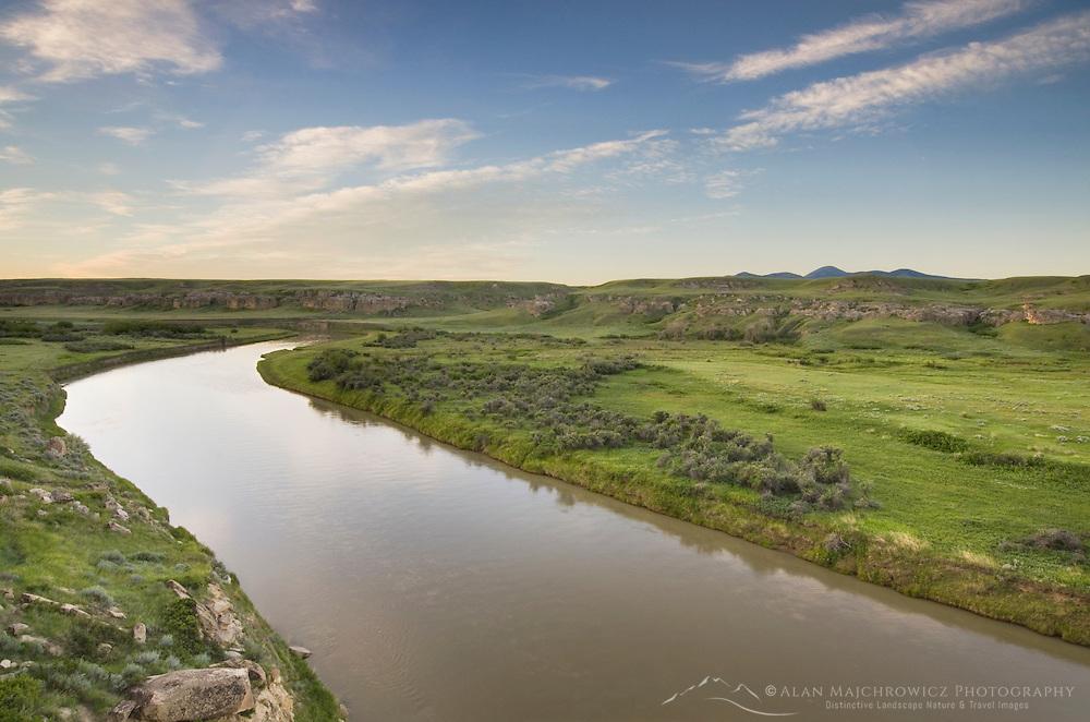 Milk River flowing through Writing on Stone Provincial Park Alberta Canada