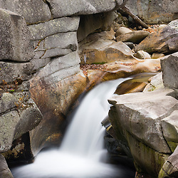 Upper Falls on the Ammonoosuc River in New Hampshire's White Mountains. Twin Mountain, New Hampshire.