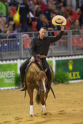 Jurgen Pouls, (NED), Hollywood Gunman - Team Competition and 1st individual qualifying  - Alltech FEI World Equestrian Games™ 2014 - Normandy, France.<br /> © Hippo Foto Team - Dirk Caremans<br /> 25/06/14