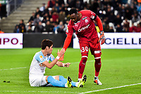 Hiroki Sakai and Steve Mandanda of Marseille during the French League Cup match between Marseille and Strasbourg at Stade Velodrome on December 19, 2018 in Marseille, France. (Photo by Alexandre Dimou/Icon Sport)