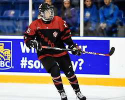 Pierre-Luc Dubois of the Cape Breton Screaming Eagles represented Team Canada Black at the 2014 World Under-17 Hockey Challenge in Sarnia and Lambton, ON November 2-8, 2014. Photo by Aaron Bell/CHL Images