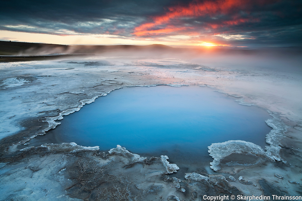 Blue Pool in Hveravellir, central highlands of Iceland