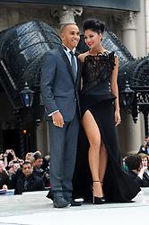 Lewis Hamilton and Nicole Scherzinger arrives for the Men in Black 3 - UK film premiere, London, Wednesday May 16, 2012. Chris Joseph/i-Images