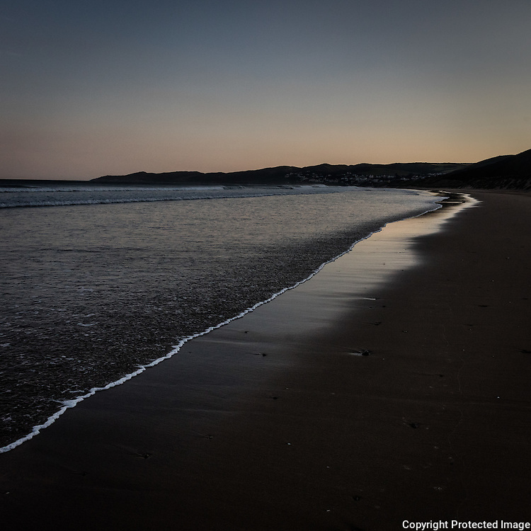 First light, Woolacombe Sand, Devon.