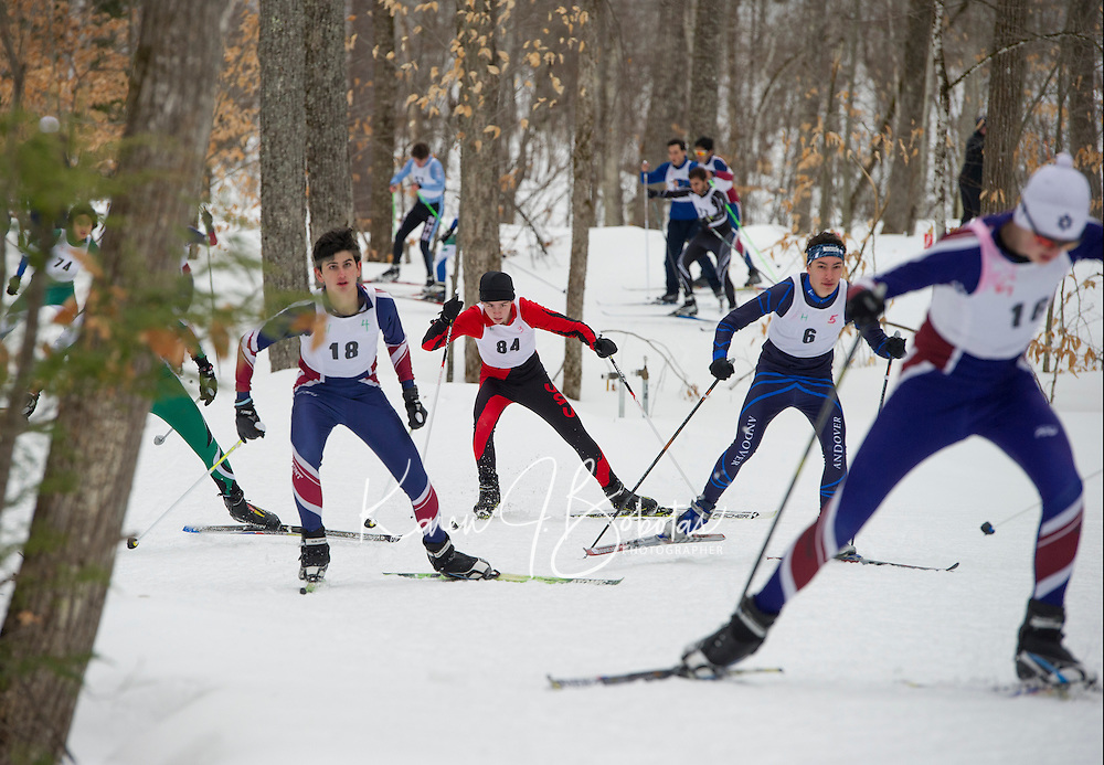St Paul's School nordic sprint races at Blackwater Ski Area.  ©2017 Karen Bobotas Photographer
