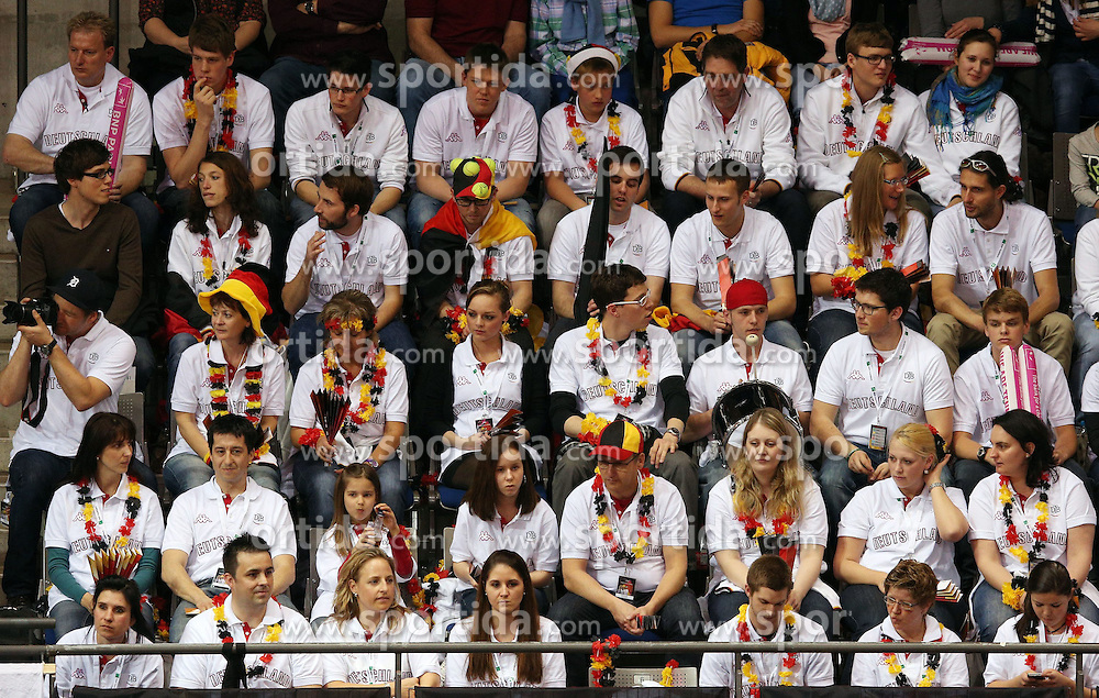 20.04.2013, Porsche-Arena, Stuttgart, GER, Fed CUP, Playoff, Deutschland vs Serbien, im Bild die DTB Fans in Stuttgart, Mona BARTHEL (GER) vs Ana IVANOVIC (SRB) // during the Fed Cup World Group Playoff between Germany and Serbia at the Porsche-Arena, Stuttgart, Germany on 2013/04/20. EXPA Pictures © 2013, PhotoCredit: EXPA/ Eibner/ Eckhard Eibner..***** ATTENTION - OUT OF GER *****